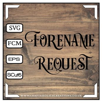 Forename Request for Desire Font