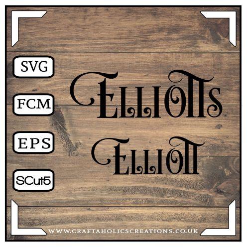 Elliott Elliotts in Desire Pro Font