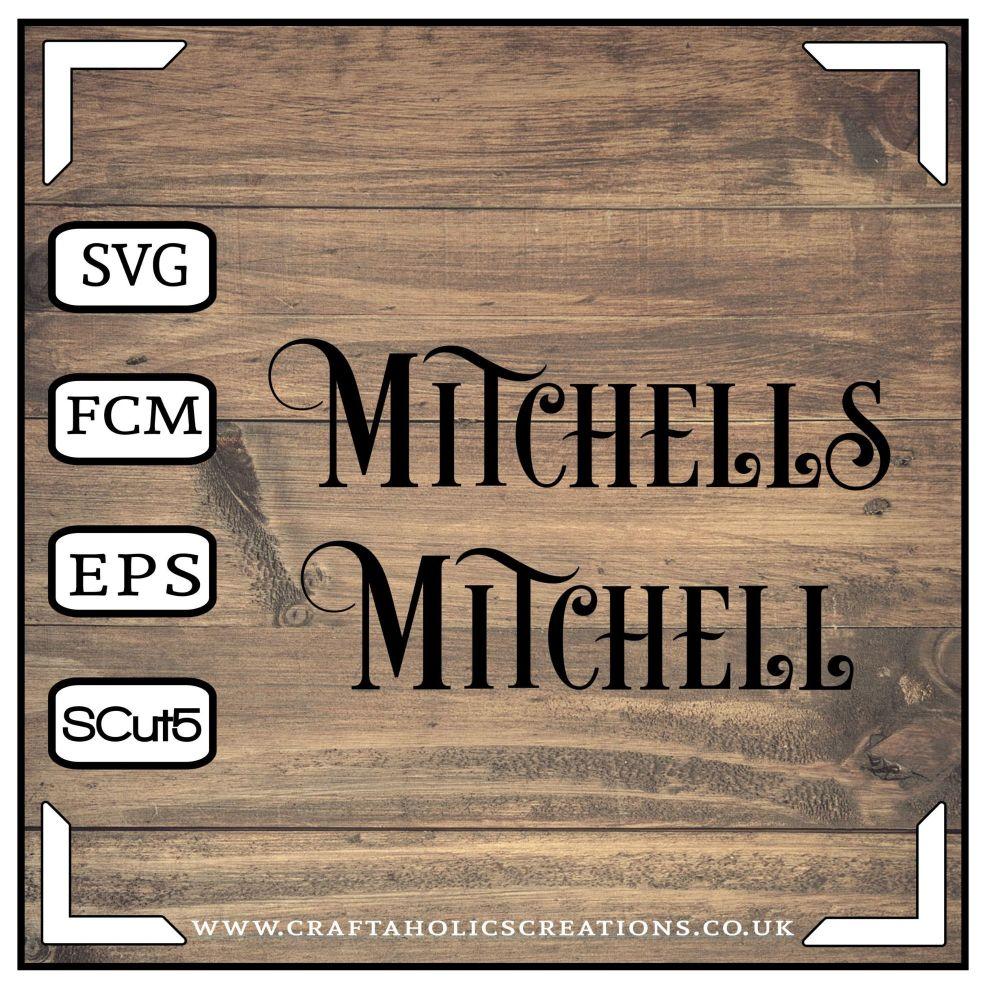 Mitchell Mitchells in Desire Pro Font