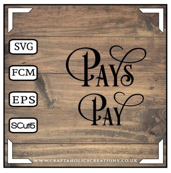 Pay Pays in Desire Pro Font