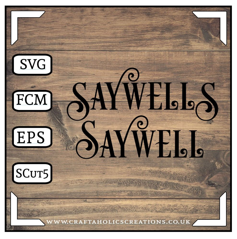 Saywell Saywells in Desire Pro Font