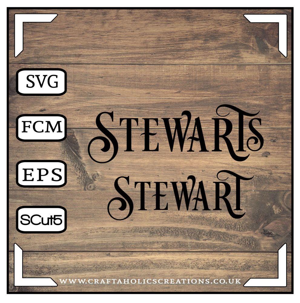 Stewart Stewarts in Desire Pro Font