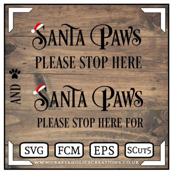 Santa Paws Stop Here