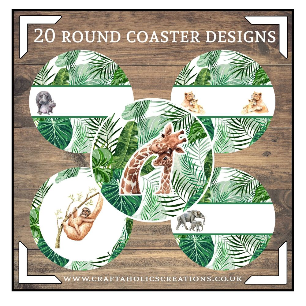 Wildlife Round Coasters Collection SET 1
