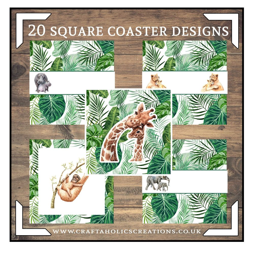 Wildlife Square Coasters Collection SET 1