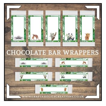 Wildlife Chocolate Wrapper Collection SET 2
