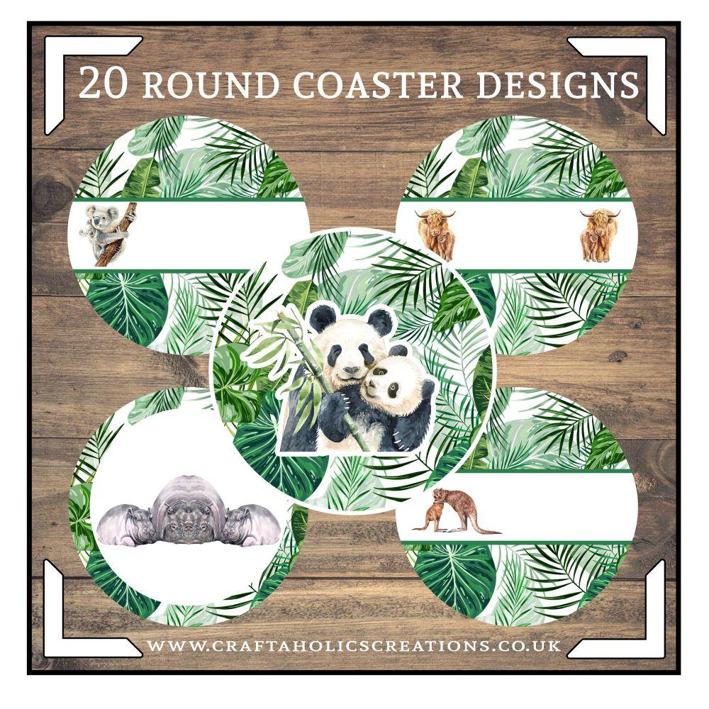 Wildlife Round Coasters Collection SET 2