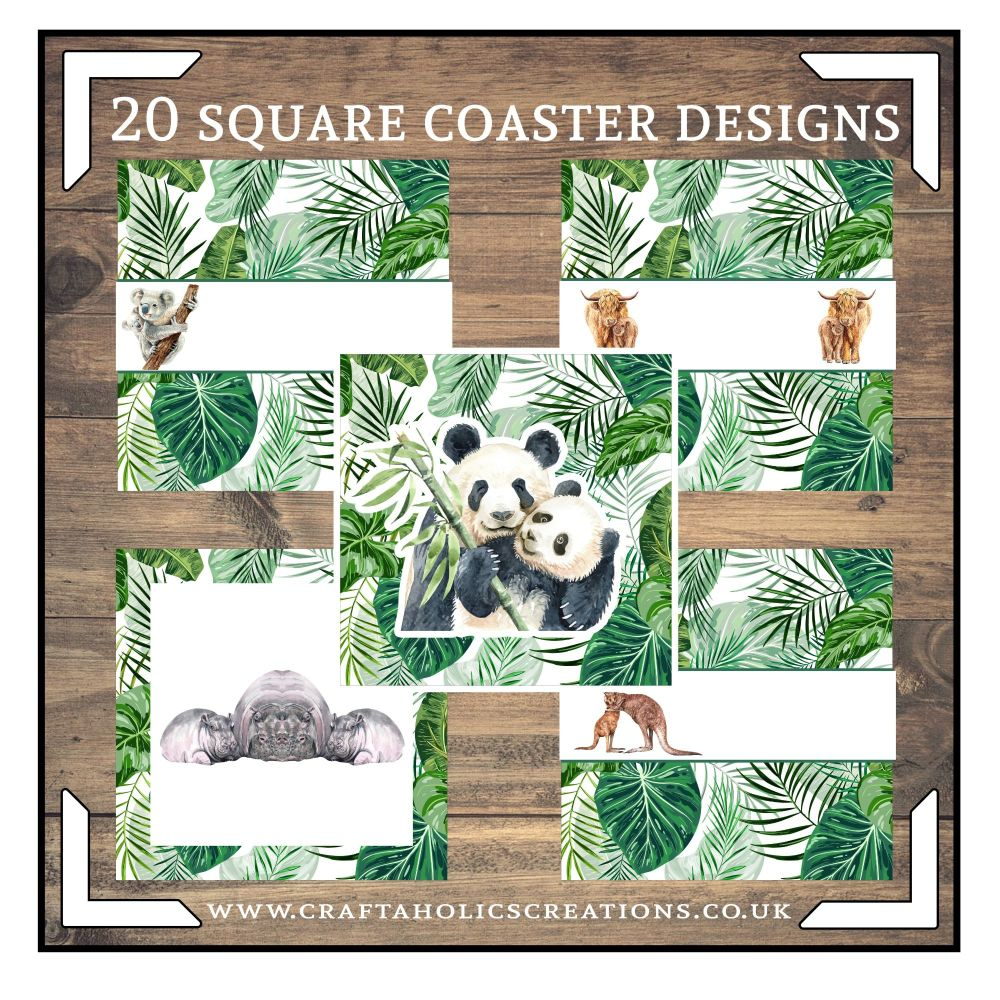 Wildlife Square Coasters Collection SET 2