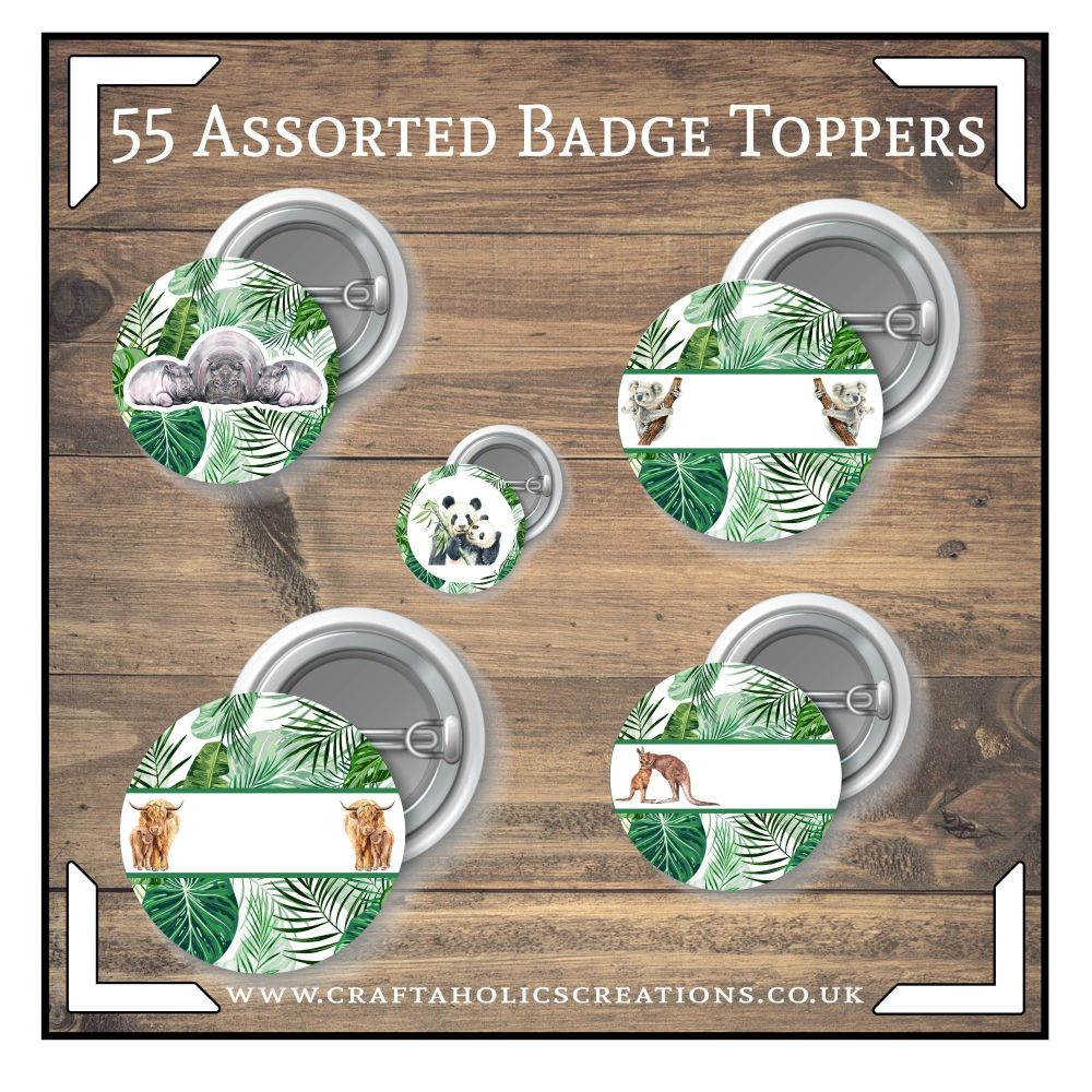 Wildlife Badge/Toppers Collection SET 2