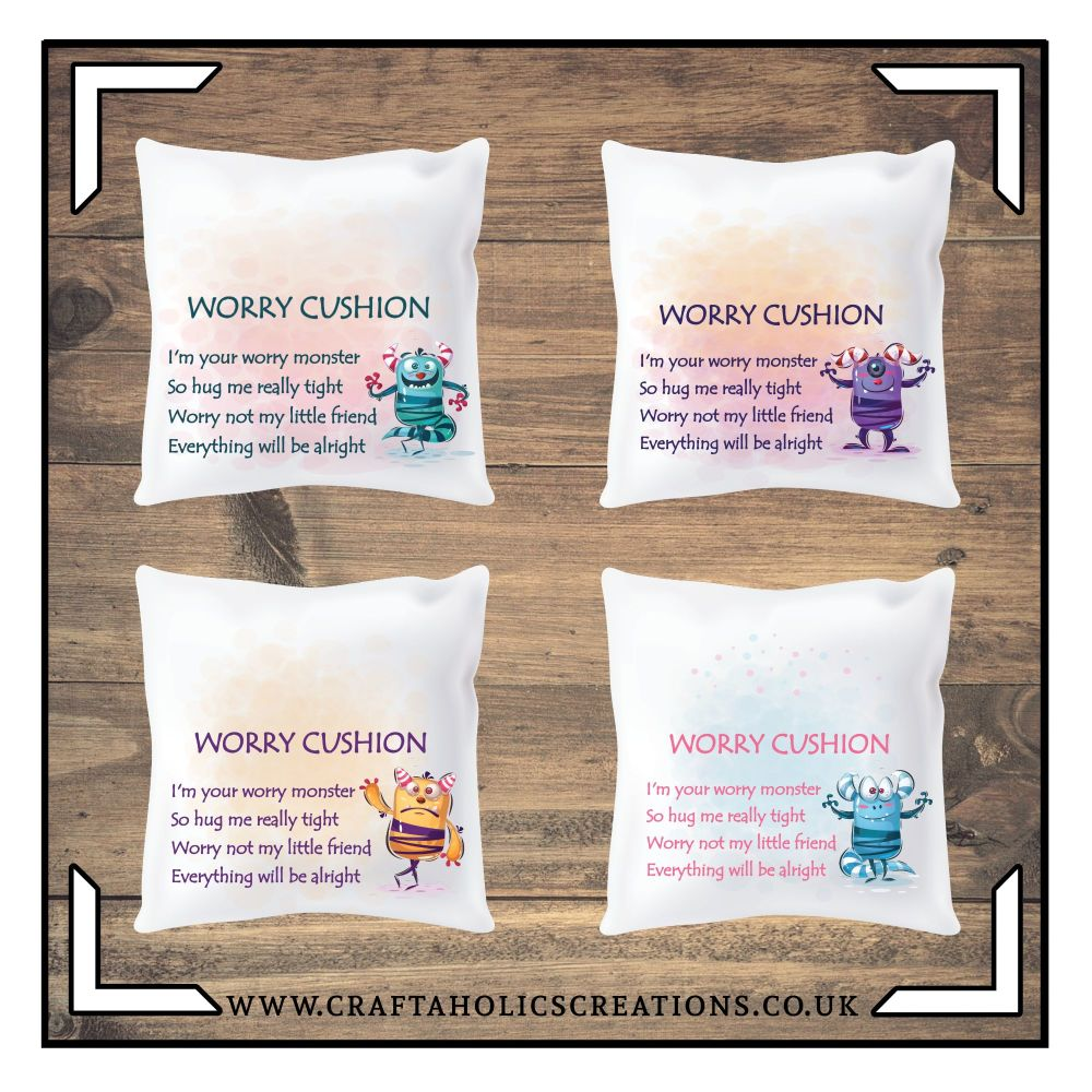 Worry Cushion - Monsters