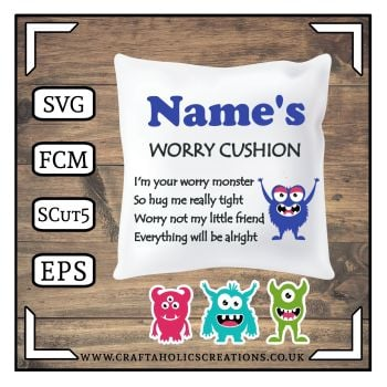 Worry Cushion - Monster