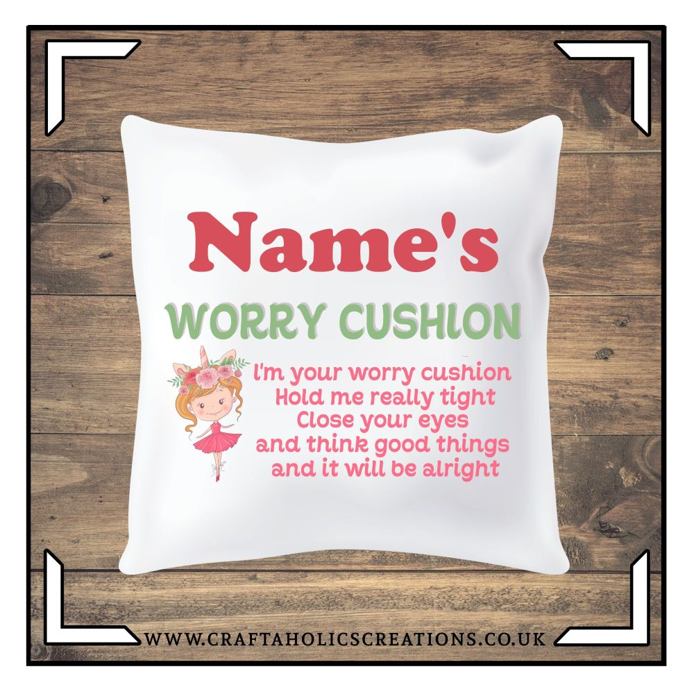 Worry Cushion - Unicorn Girl