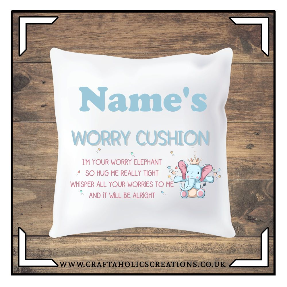 Worry Cushion - Elephant 2