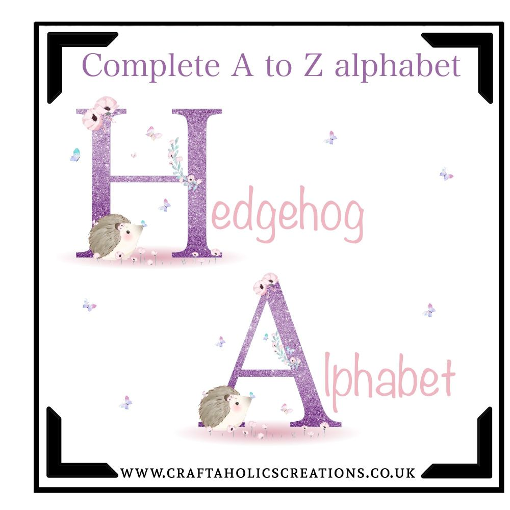 A to Z Hedgehog Alphabet