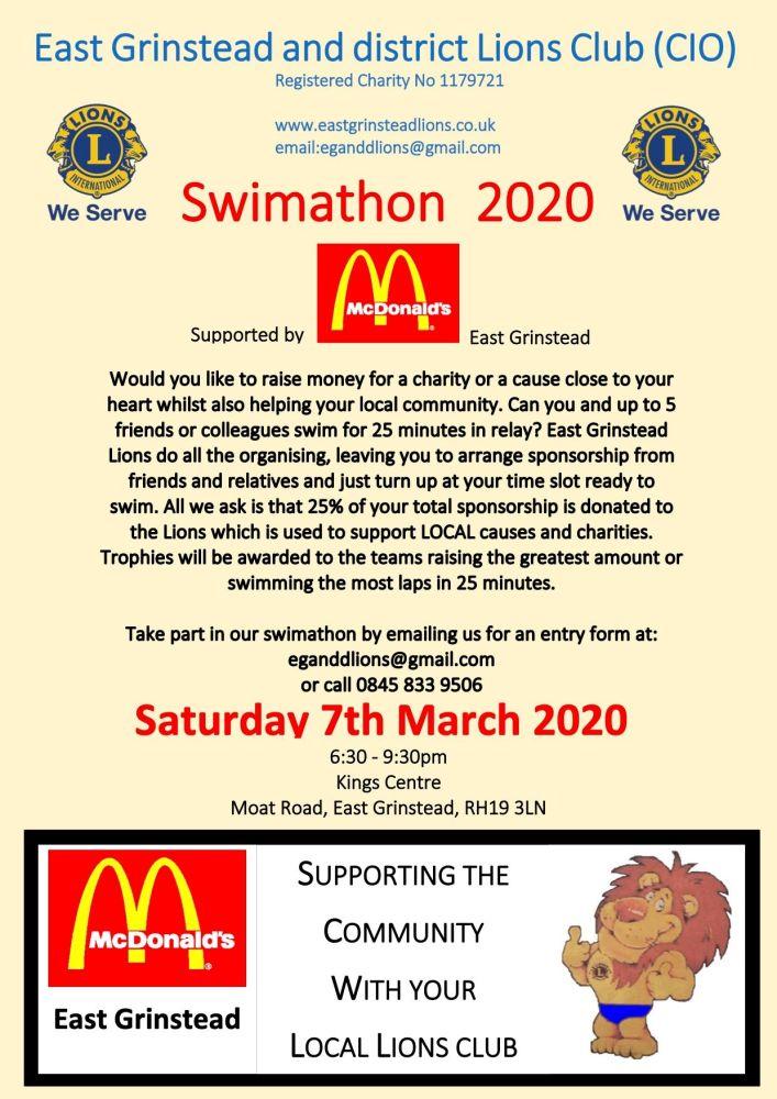 2020 swim night poster