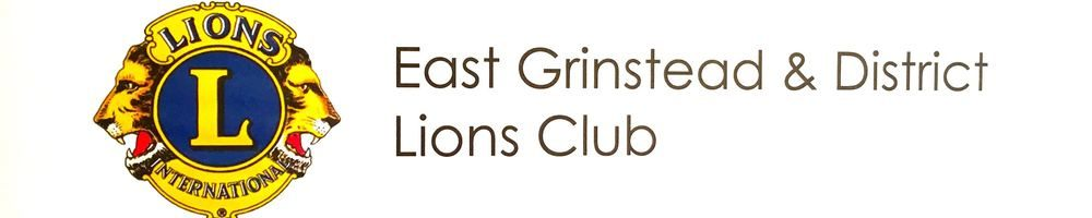 East Grinstead & District Lions Club, site logo.