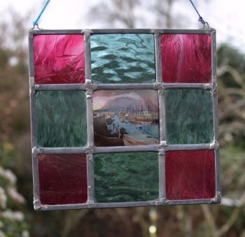 """Harbour"" leaded panel"