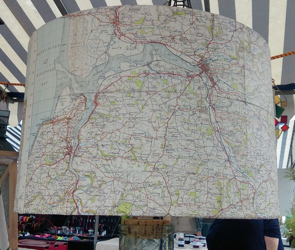 Map lampshades