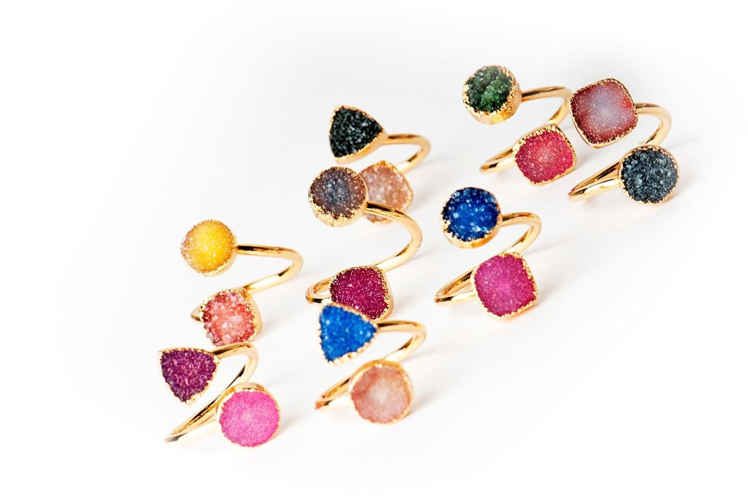 Druzy Rocks Rings Autumn Collection 2016