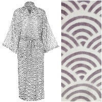 Women's Cotton Kimono Robe - Rainbow Gray