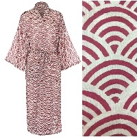 Women's Cotton Kimono Robe - Rainbow Brick Red