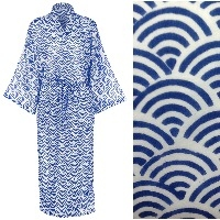 Women's Cotton Kimono Robe - Rainbow Blue