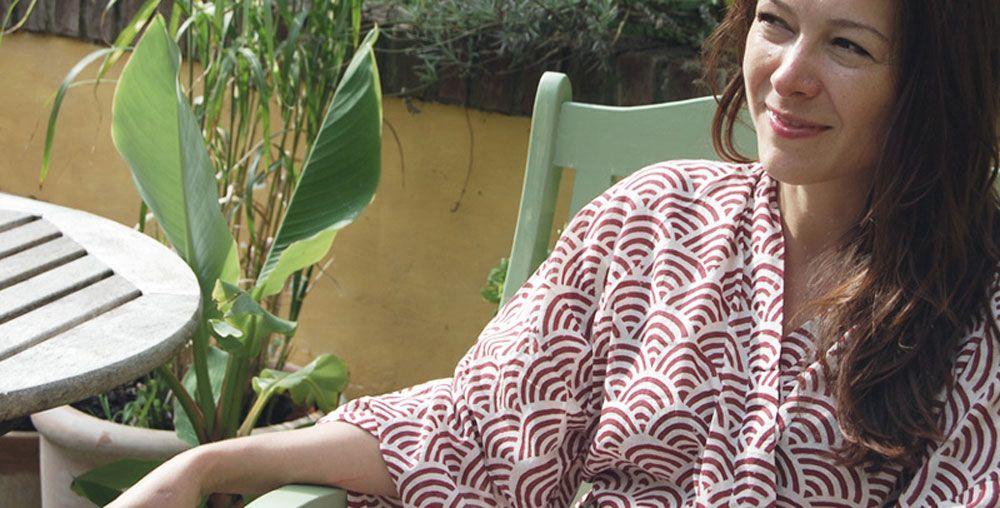Susannah Kimono Robe - Rainbow Red