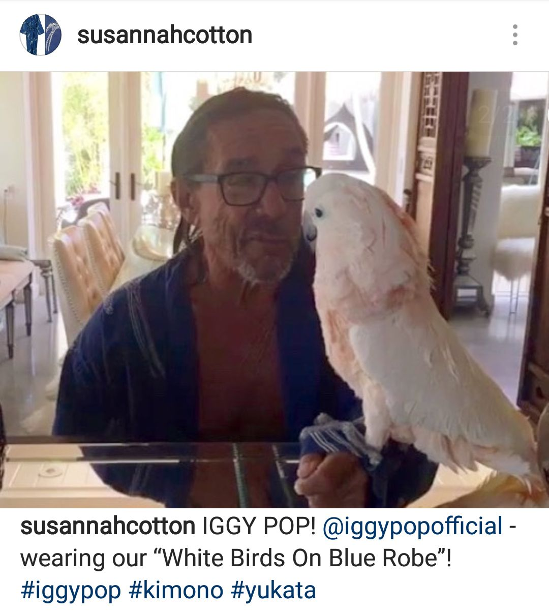Iggy Pop wearing his Susannh Robe!!
