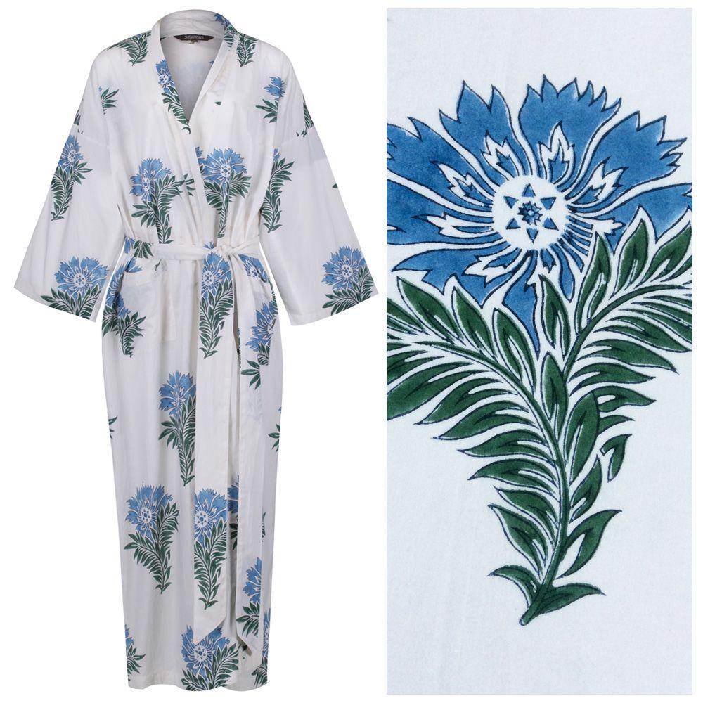 <b>Women's Cotton Kimono Robe - Wild Flower</b>