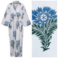 Women's Cotton Kimono Robe - Wild Flower