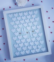 Unique Wedding Party Guest Book Alternative 3d Frame for Signature Bespoke