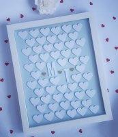 Unique Wedding Party Guest Book Alternative 3d Frame for Signature Bespoke