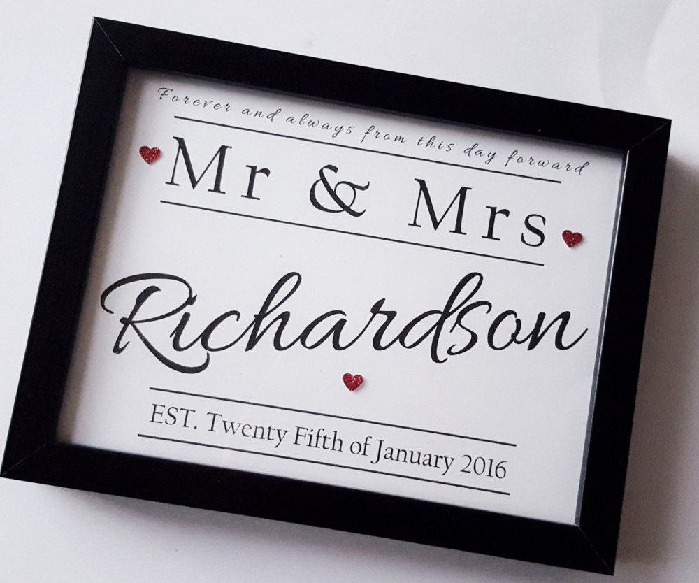 Personalized Wedding Photo Frames Uk : ... handmade gifts, personalised gift, unique gift ideas, frame gifts