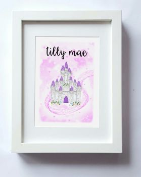 Girls Princess bedroom print, Bedroom decor, Castles in the sky.' Perfect addition to any nursery or bedroom decor UNFRAMED