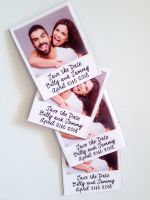 Save the dates, Polaroid, Picture magnet, Wedding invitations, Magnets.