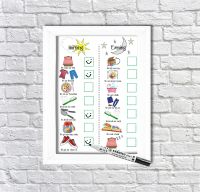Daily Routine Planner, Kids Schedule, Morning and Evening Routine, For Boys and Girls, Checklist, Dry erase Chart