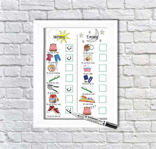 Daily Routine Planner, Kids Schedule, Morning and Evening Routine, For Boys