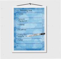 Weekly Calendar, Kids After School Planner, Weekly Schedule, Kids Study Planner, Dry erase, Dry Wipe board