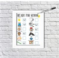 Ready for school, daily Planner, with pictures, Boys visual schedule, Morning Routine