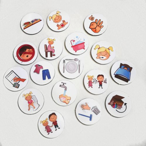 20 Kids Custom Magnets, with Pictures, Routine Chart, Chore Chart, Behaviou
