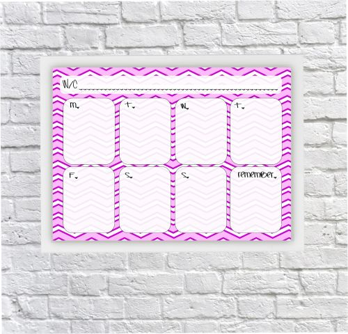 Student Planner, Weekly Schedule, For Girls, Dry erase Planner, Dry Wipeboa
