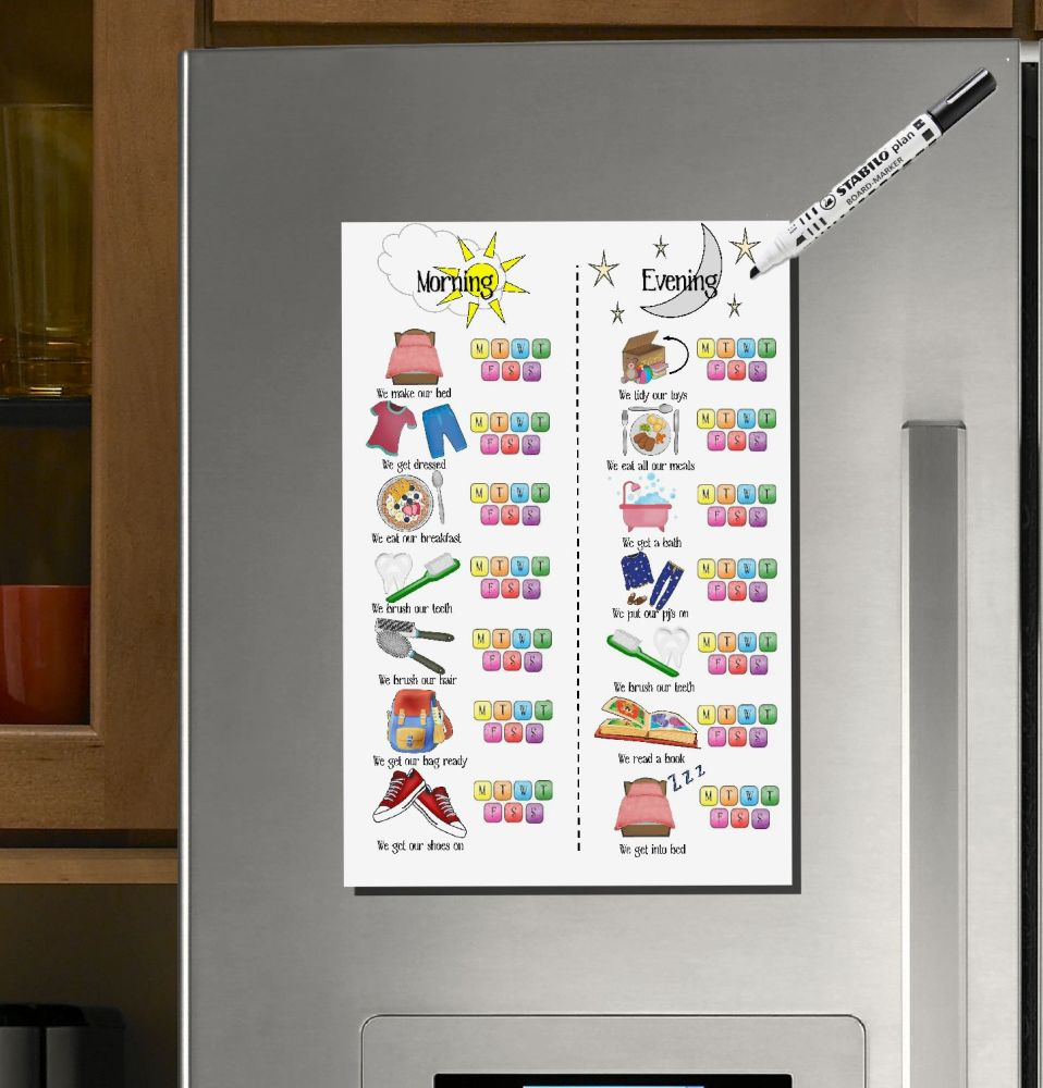 £10 OFFER! Weekly Planner, Morning Routine, Evening Routine, Kids Daily Sch