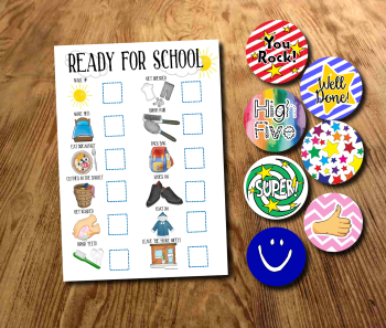 Kids, Ready for School, boys morning routine, Morning Chart, School Morning Planner