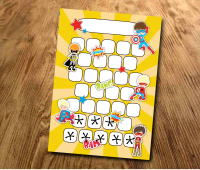 Star chart, Superhero Reward Chart, Behaviour Chart, Sticker Chart