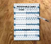 Navy Blue Star chart, Chore chart, My daily responsibilities, kids Reward Chart, kids routine chart