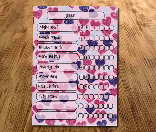 Chore chart, Star Chart, My reward Chart, daily Reward Chart, kids routine