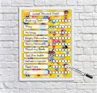 Kids Reward Chart, Superheroes, kids whiteboard, Kids reusable behaviour chart, Chore Chart, For Boys and Girls, Dry erase Planner, Dry Wipeboard