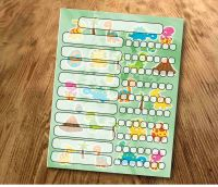 Chore chart, Dinosaurs, My reward Chart, daily Reward Chart, kids routine chart