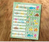 Chore chart, Dinosaurs, My reward Chart, daily Reward Chart, kids routine chart