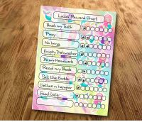 Chore chart, Star Chart, My reward Chart, daily Reward Chart, kids routine chart, unicorn and mermaids